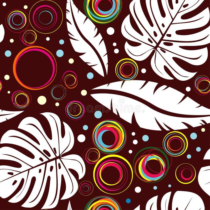 Fundo tropical sem emenda ilustração royalty free