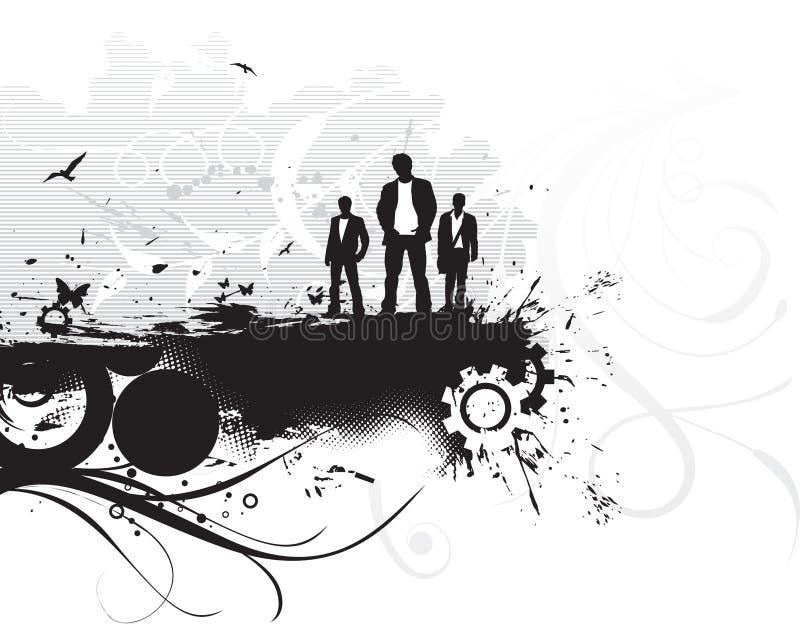 Fundo uarban de Grunge ilustração stock