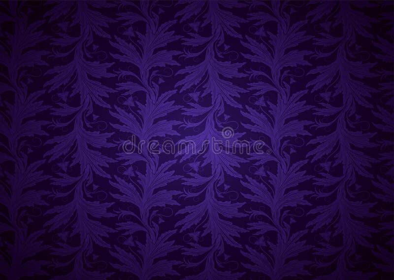 Fundo ultravioleta, amet?stico, real, vintage com teste padr?o barroco floral cl?ssico, rococ? ilustração stock