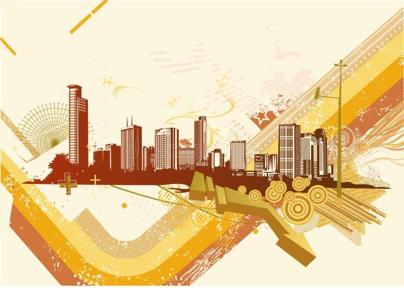 Fundo urbano ilustração royalty free
