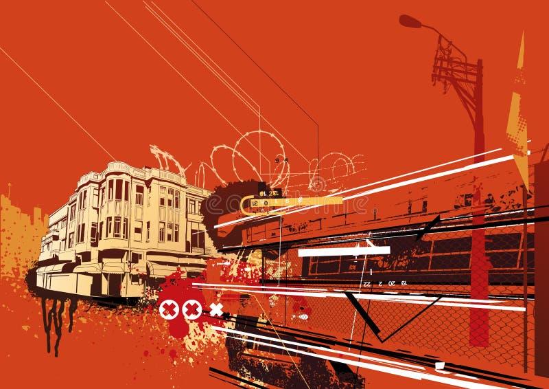 Fundo urbano ilustração stock