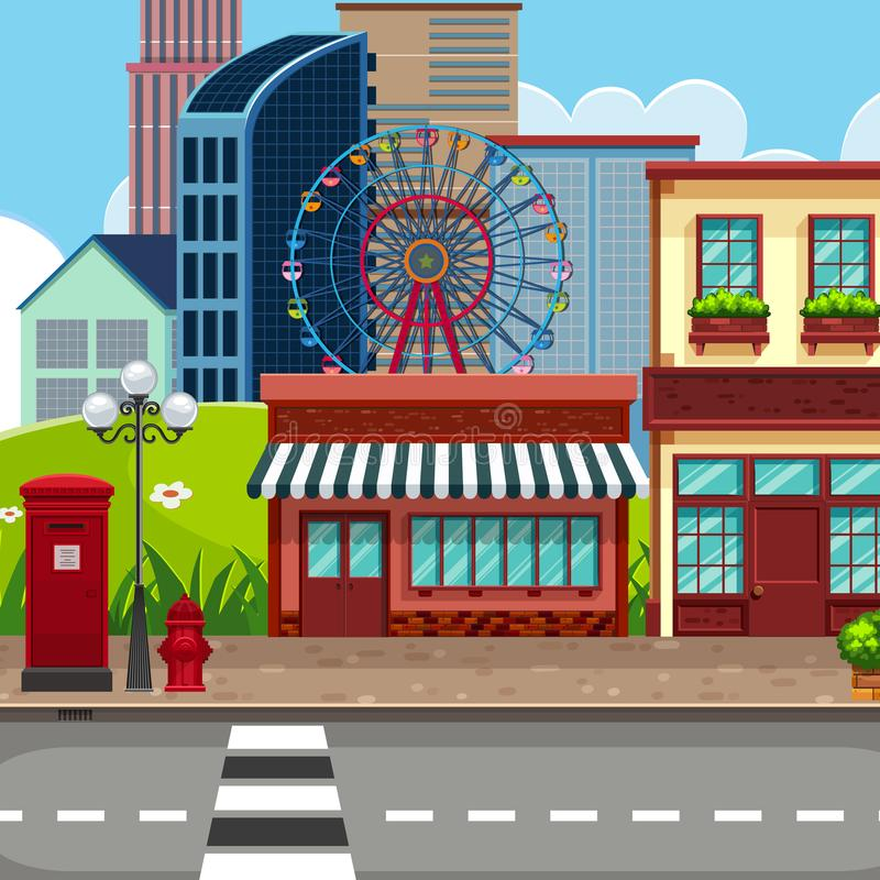 Fundo urbano da cidade da cidade ilustração royalty free