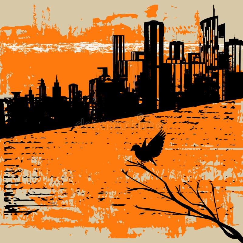 Fundo urbano de Grunge ilustração do vetor
