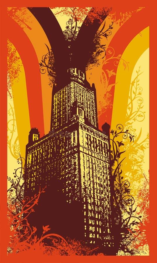 Fundo urbano de Grunge ilustração royalty free