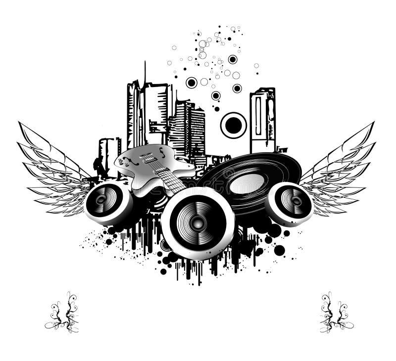 Fundo urbano do discoteque ilustração royalty free