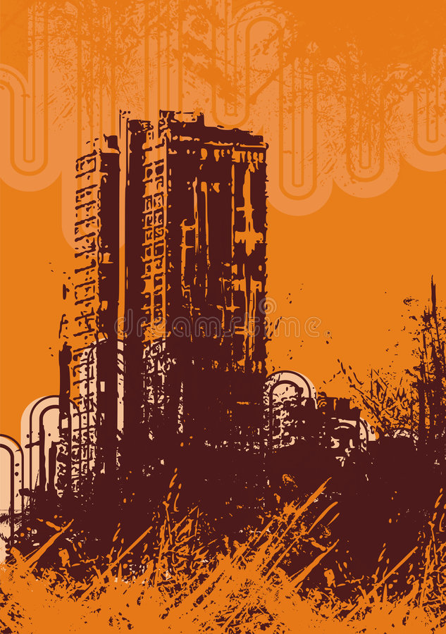 Fundo urbano do grunge ilustração royalty free