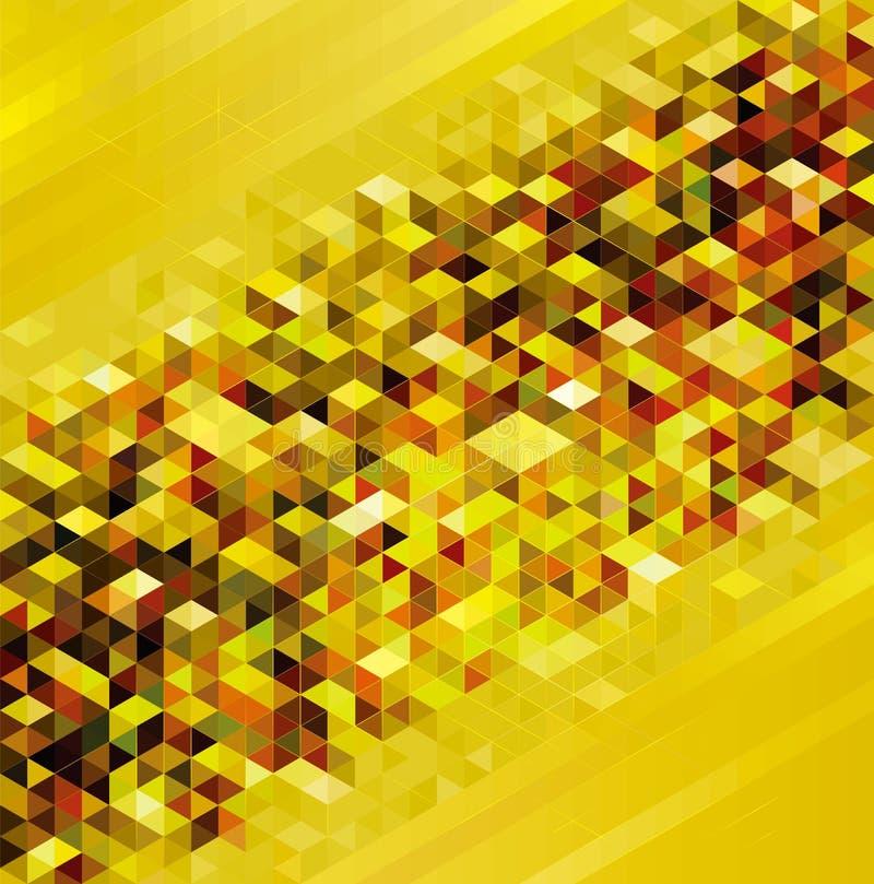 Fundo urbano geométrico dourado ilustração do vetor