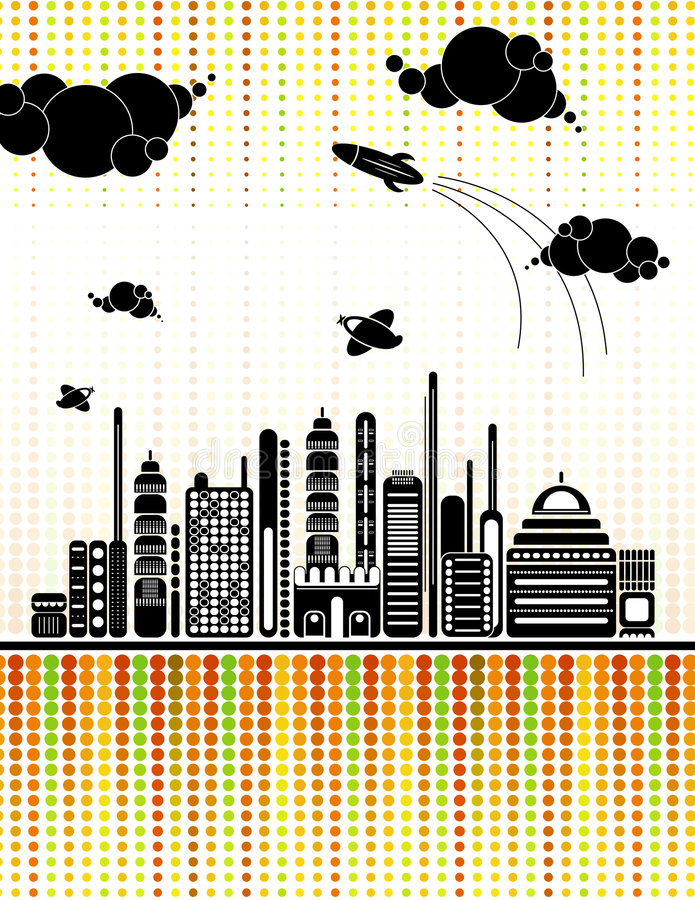 Fundo urbano, vetor ilustração stock