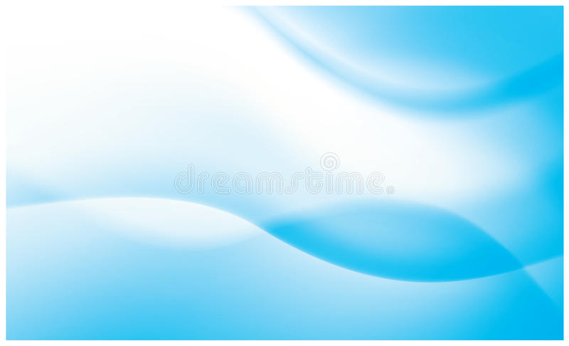 Fundo vívido azul abstrato do fluxo ilustração royalty free