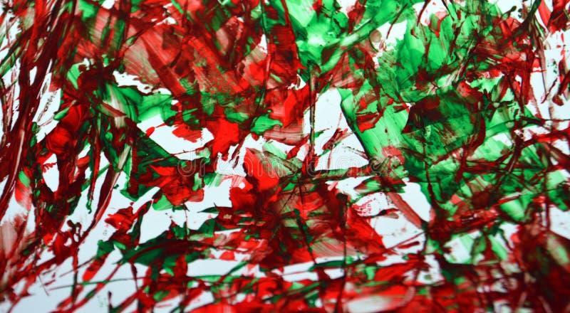 Fundo vívido brilhante, textura e cursos do sumário fosforescente vermelho da pintura da escova foto de stock royalty free