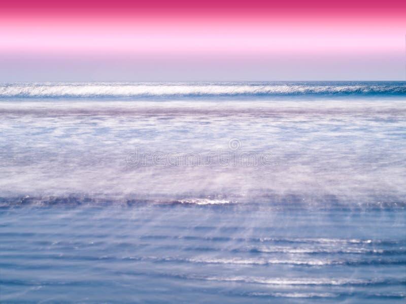 Fundo vívido dos maremotos do horizonte do oceano do leite fotografia de stock royalty free