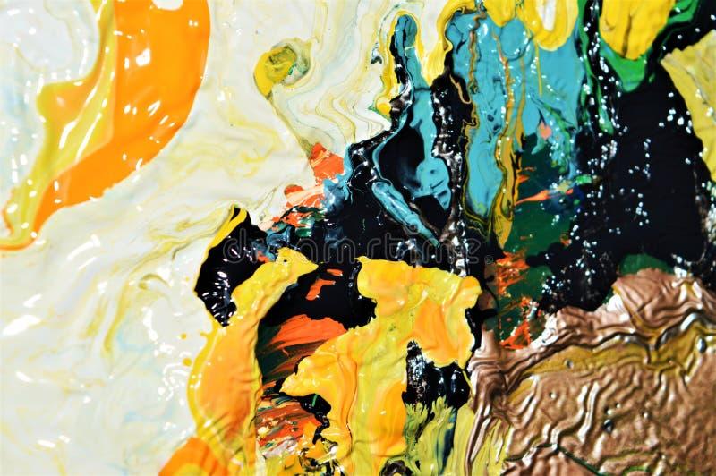 Fundo vívido na tinta, imagem abstrata da pintura fotografia de stock