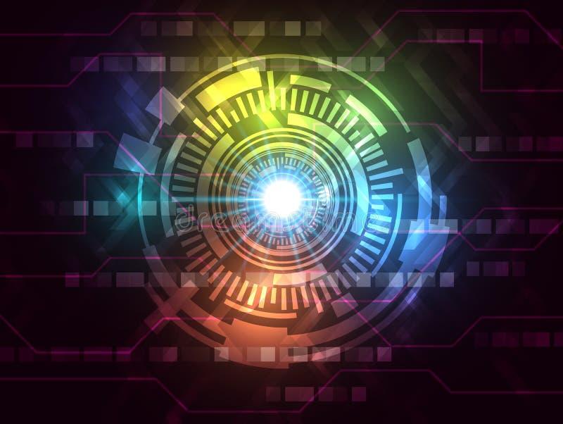 Fundo varicolored abstrato da tecnologia do Internet da velocidade do vetor olá! ilustração do vetor