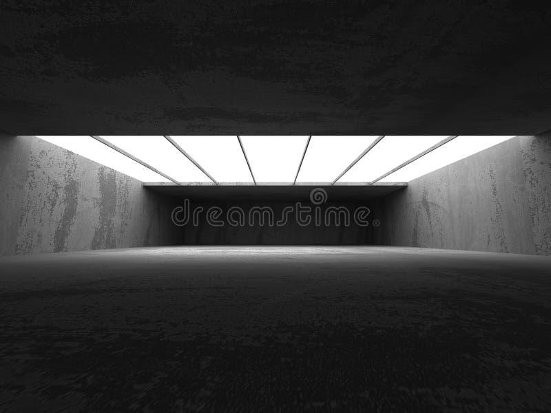 Fundo vazio abstrato do interior da sala do muro de cimento ilustração do vetor