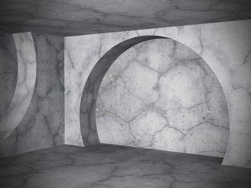 Fundo vazio concreto moderno do interior da sala A urbano abstrato ilustração royalty free