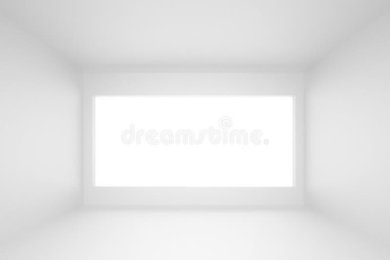 fundo vazio do interior da sala branca fotografia de stock