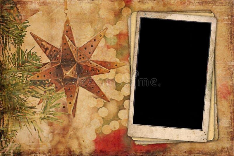 Fundo vazio do sumário do Natal da imagem fotos de stock royalty free