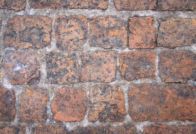 Fundo velho abstrato da parede de tijolo vermelho fotografia de stock