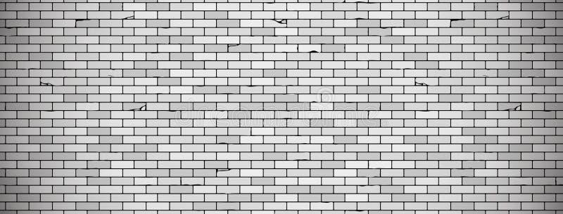 Fundo velho da parede de tijolo com a vinheta em cores cinzentas textura da parede de tijolo do vetor ilustração stock