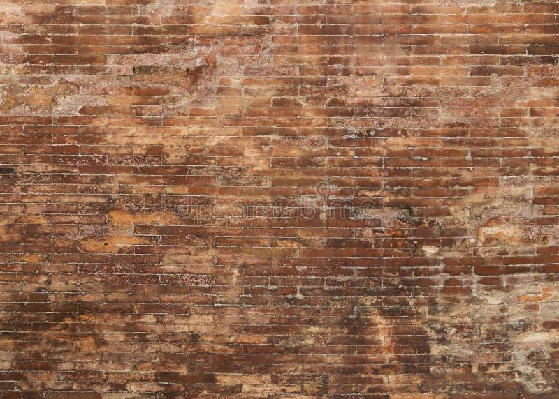 Fundo velho da parede de tijolo vermelho imagens de stock