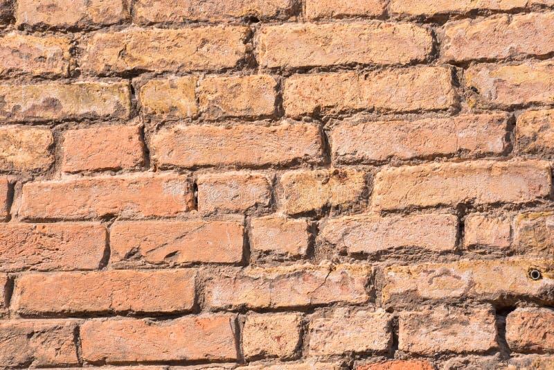 fundo velho da parede de tijolo vermelho, imagem digital da foto como um fundo fotografia de stock