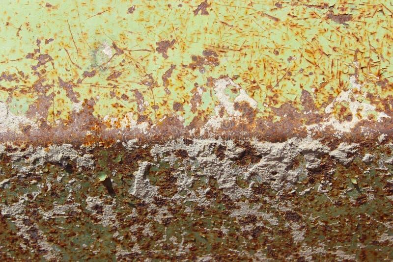 Fundo velho da parede do metal fundo oxidado da textura da parede do metal imagens de stock
