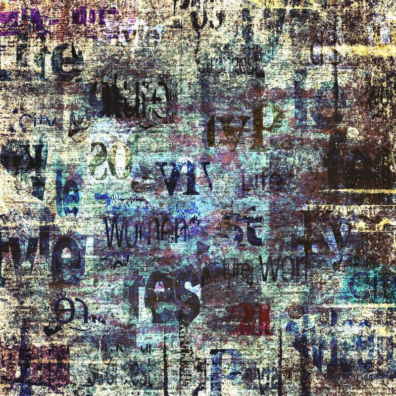 Fundo velho da textura do jornal do grunge do vintage imagens de stock