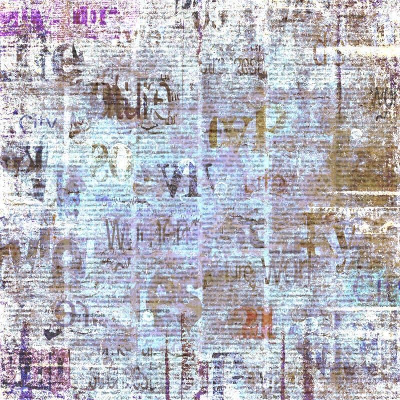 Fundo velho da textura do jornal do grunge do vintage ilustração royalty free