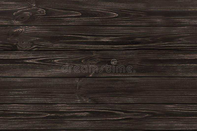 Fundo velho de madeira SEM EMENDA das pranchas do marrom escuro Textura de madeira imagem de stock