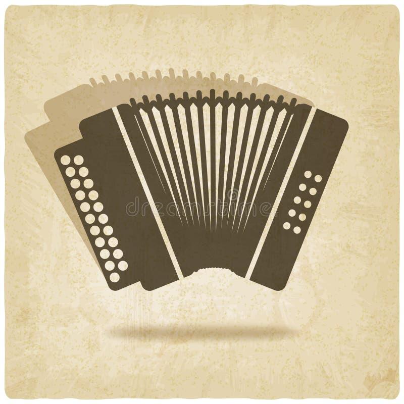 Fundo velho do acordeão ilustração royalty free