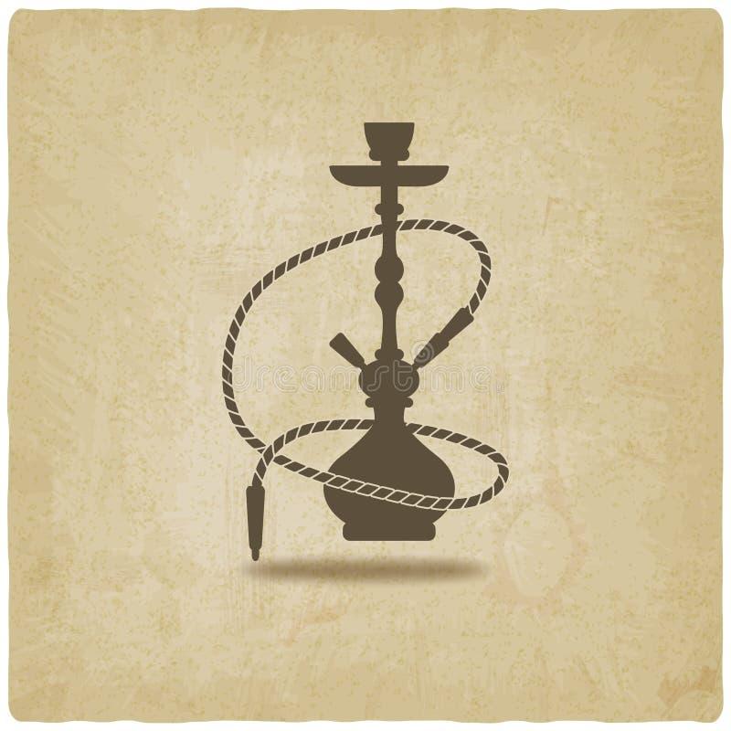 Fundo velho do cachimbo de água ilustração royalty free