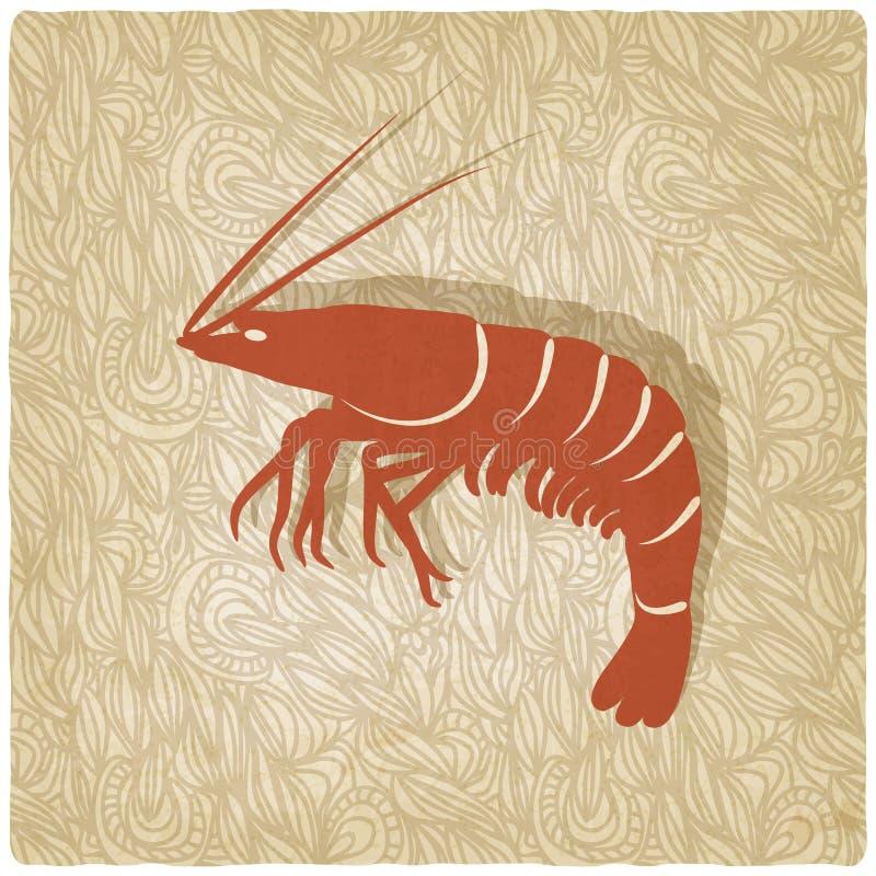 Fundo velho do camarão ilustração do vetor