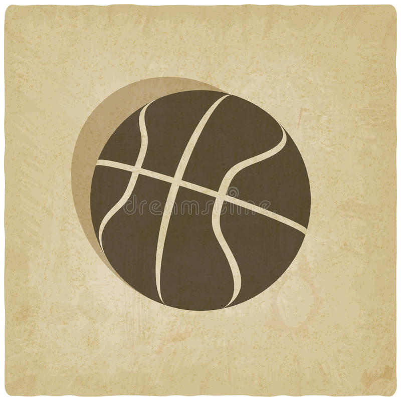 Fundo velho do logotipo do basquetebol do esporte ilustração do vetor