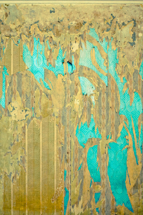 Fundo velho do papel de parede imagens de stock