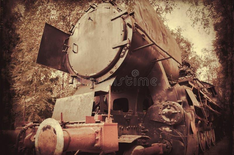 Fundo velho do trem do vintage retro fotos de stock