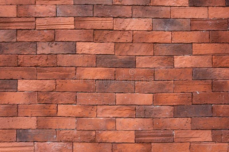 Fundo velho vermelho da parede de tijolo imagens de stock