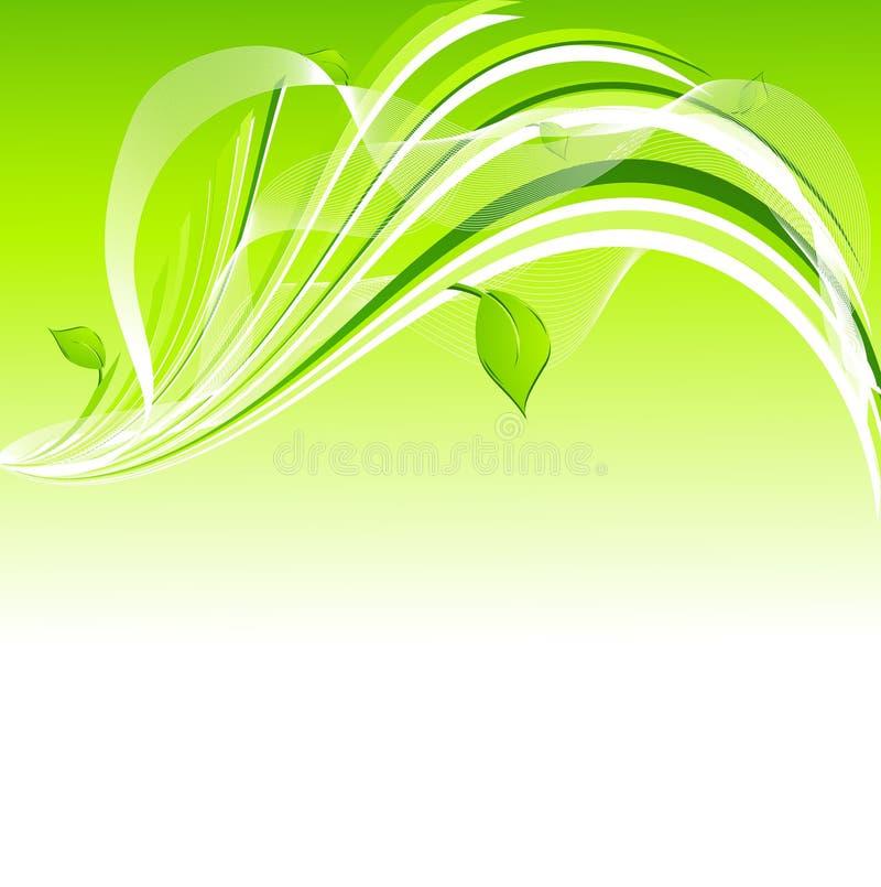 Fundo verde ilustração royalty free