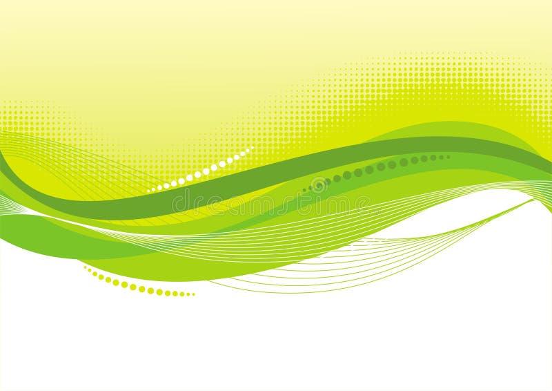Fundo verde abstrato ilustração royalty free
