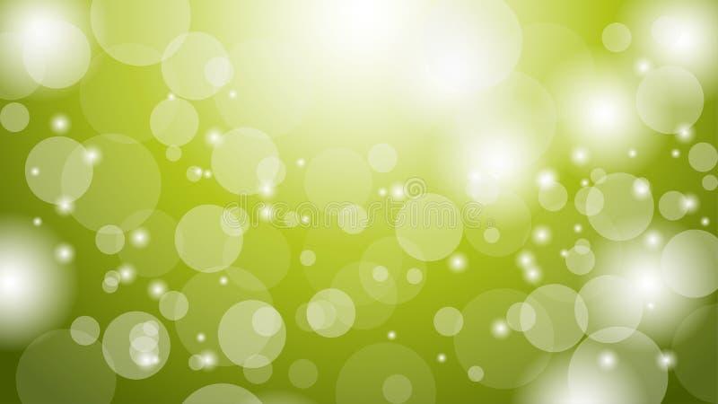 Fundo verde abstrato de Bokeh Molde gr?fico do projeto dos recursos Ilustra??o de brilho do verde do bokeh ilustração royalty free