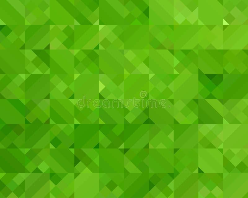 Fundo verde abstrato do triângulo ilustração do vetor