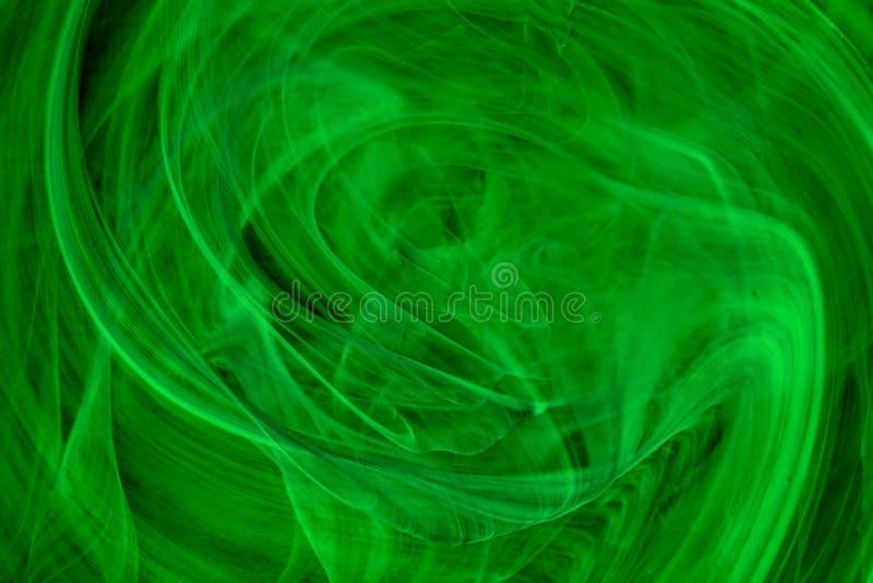 Fundo verde abstrato do vidro derretido real foto de stock royalty free