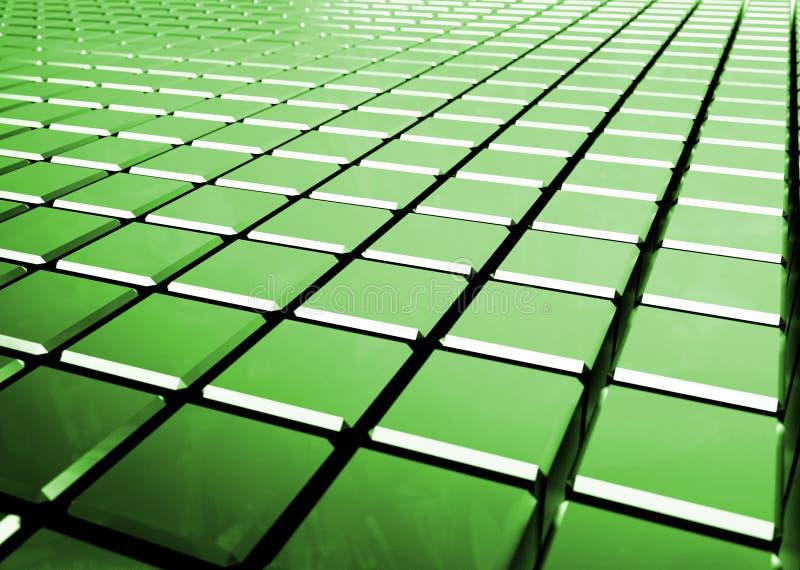 Fundo verde abstrato lustroso dos cubos ilustração do vetor