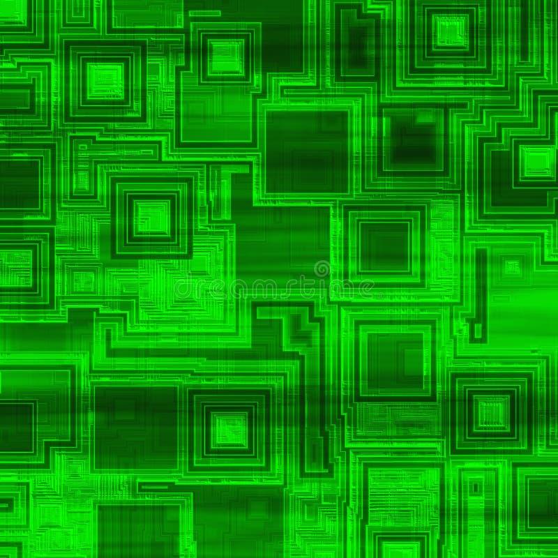 Fundo verde alta tecnologia ilustração stock
