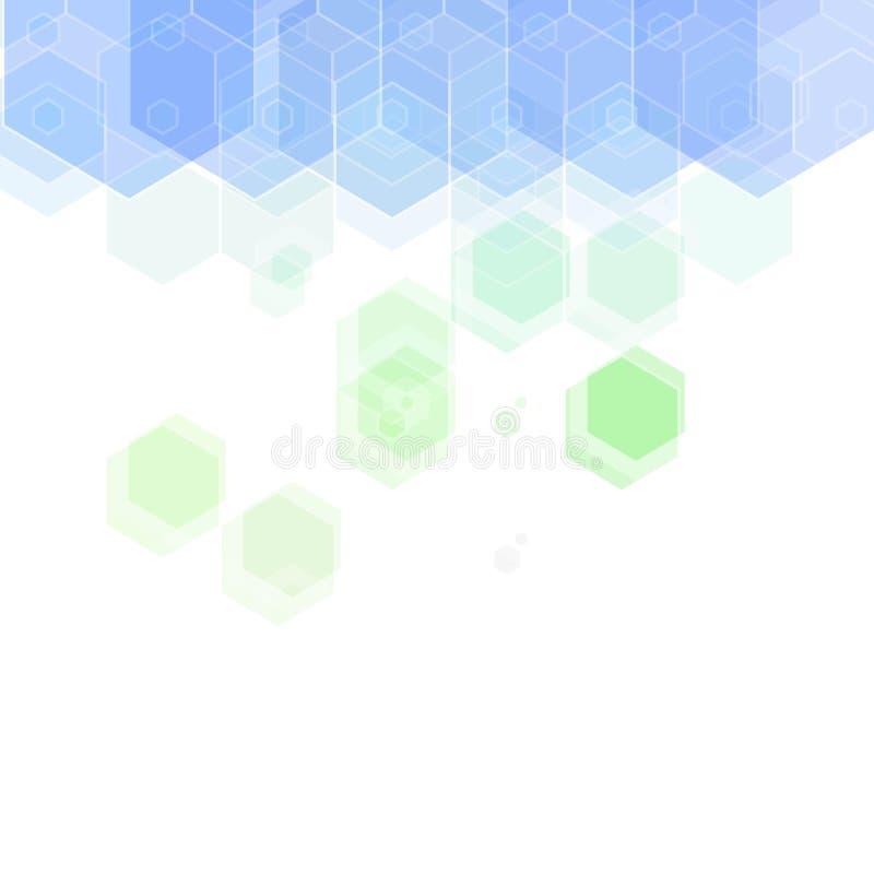 Fundo verde-azul colorido do hexágono ilustra??o abstrata do vetor Eps 10 ilustração stock