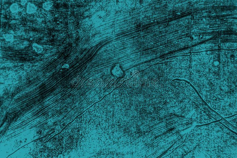 Fundo verde azul preto dos cursos da escova de pintura fotografia de stock royalty free