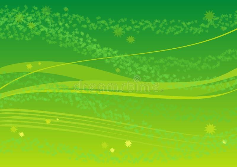 Fundo verde com folhas ilustração stock