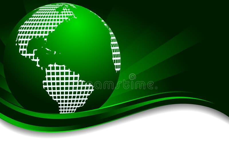 Fundo verde com terra ilustração do vetor
