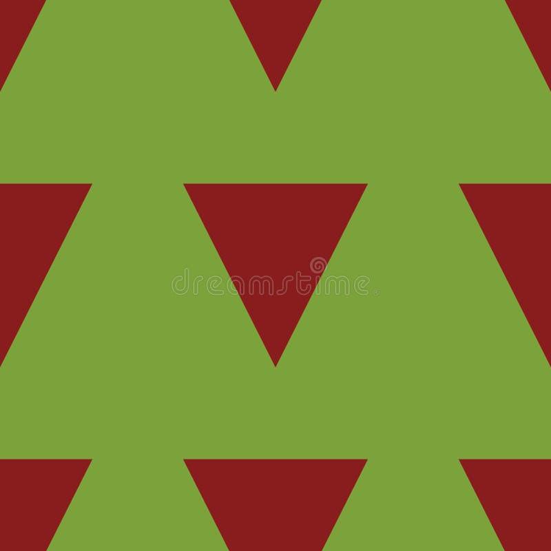 Fundo verde com triângulos vermelhos imagem de stock royalty free