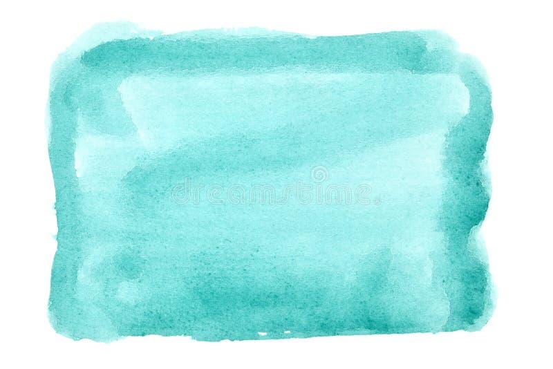 Fundo verde da aguarela ilustração stock