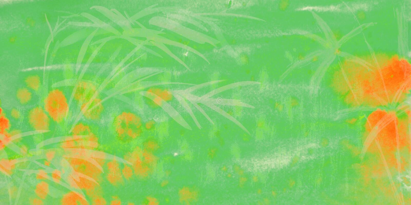 Fundo verde da aquarela ilustração stock